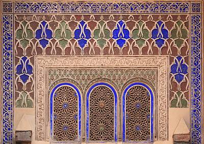 Intricate Painted And Stucco Patterns Art Print