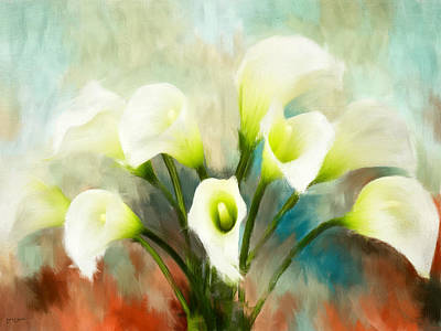 Lilies Royalty-Free and Rights-Managed Images - Intricately by Lourry Legarde