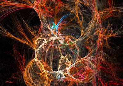 Abstract Movement Digital Art - Intrigue by Michael Durst