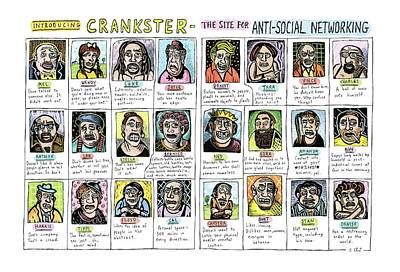 Sites Drawing - Introducing Crankster - The Site For Anti-social by Roz Chast