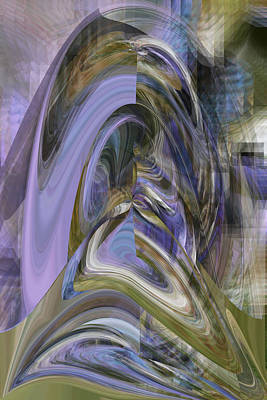 Digital Art - Introspection - Fine Art Digital Abstract by rd Erickson