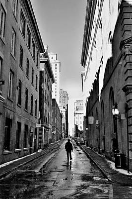 Photograph - Introspective - Old Quarter - Montreal by Jeremy Hall