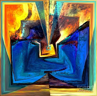 Digital Art - Introversion Abstract Art by Annie Zeno