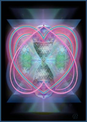 Intwined Hearts Chalice Enveloping Orbs Vortex Fired Art Print by Christopher Pringer