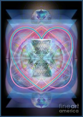 Digital Art - Intwined Hearts Chalice Wings Of Vortexes Radiant Deep Synthesis by Christopher Pringer