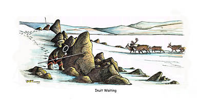 Inuit Waiting Art Print