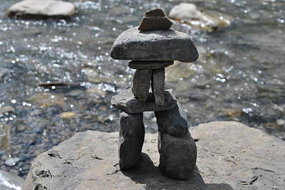 Photograph - Inukshuk By The Water by Jim Hogg