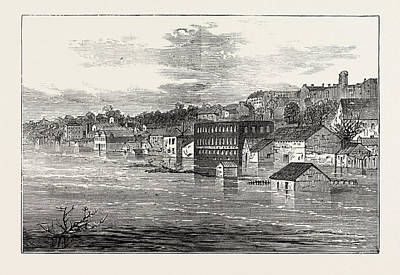 Clarksville Drawing - Inundations In The United States Of America Front Street by American School