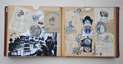 Jules Mixed Media - Inventig Some New Inventiveinventions by Nekoda  Singer