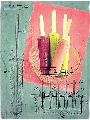 Cream Photograph - Invention Of The Ice Pop by Edward Fielding