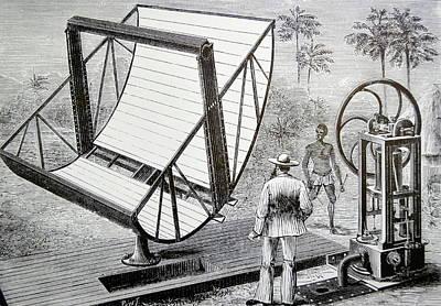 Inventor John Ericsson's Machine Art Print by Universal History Archive/uig