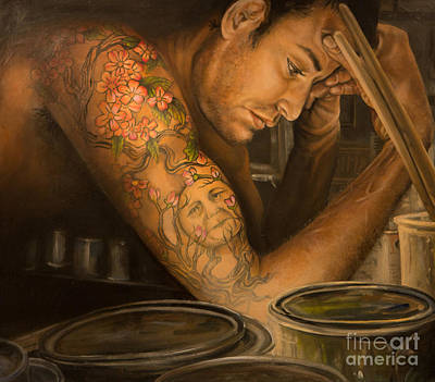 Nude Painting - Inventory by Tom  Acevedo
