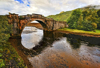 Uk Photograph - Inveraray Bridge On A Rainy Morning by Marcia Colelli