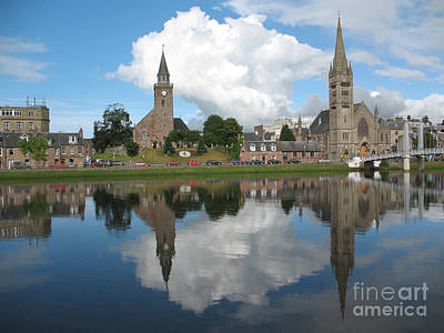 Art Print featuring the photograph Inverness Highlands Of Scotland by Jacqi Elmslie