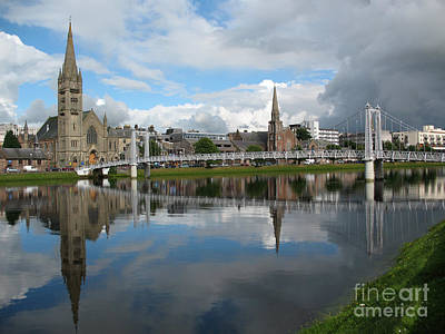 Art Print featuring the photograph Inverness Riverscape by Jacqi Elmslie