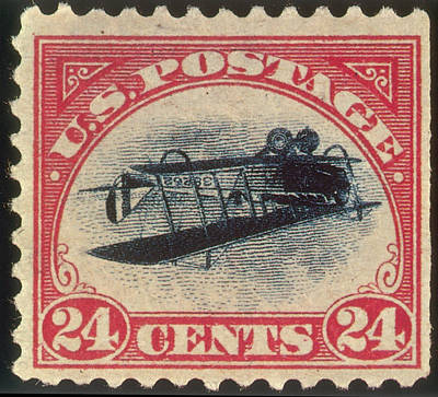 Photograph - Inverted Jenny, U.s. Postage Stamp, 1918 by Science Source