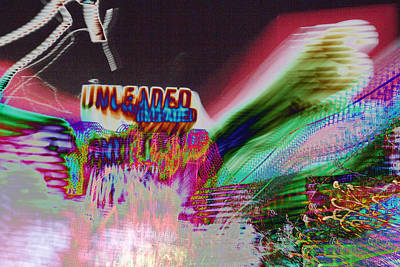 inverted tripping on psychedelic chaos Unleaded Gas price experimental photography Art Print by Don Lee