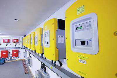 Renewable Energy Photograph - Inverters For Renewable Energy Systems by Ashley Cooper