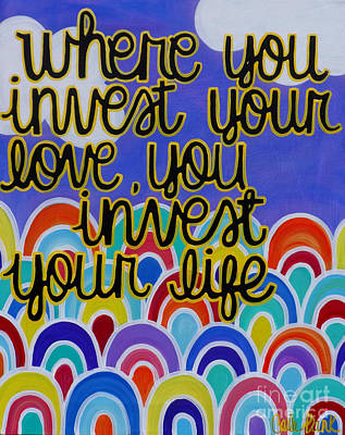 Painting - Invest Love by Carla Bank