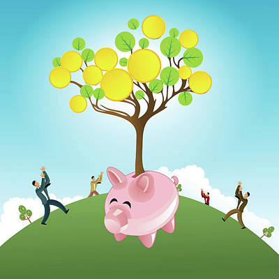 Piggy Bank Wall Art - Photograph - Investments by Fanatic Studio / Science Photo Library