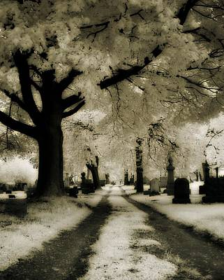 Graveyard Road Photograph - Invisible Light by Gothicrow Images