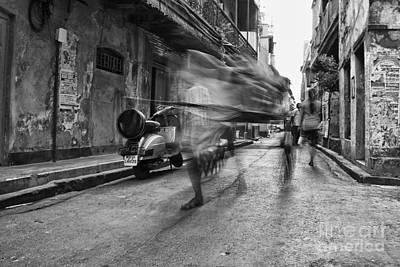 Invisible Rickshaw Puller Art Print by Soumya Shankar Ghosal