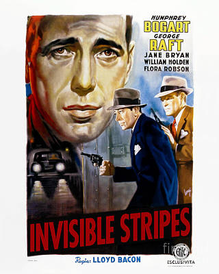 Invisible Stripes Movie Poster - Humphrey Bogart Print by MMG Archive Prints