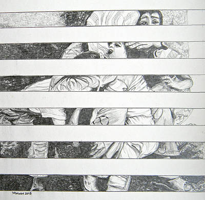 Mount Lebanon Drawing - Invisible Victims by Marwan George Khoury