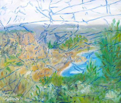 Invisible World Over Landscape Art Print