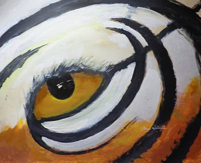 The Tiger Painting - invision the Tiger by Gene Robertson