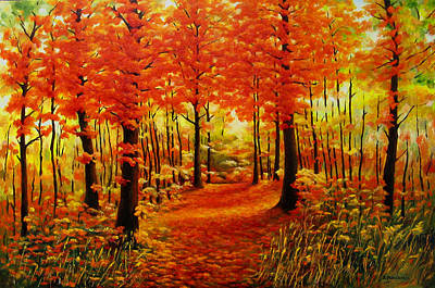 Invitation For Autumn Stroll Original