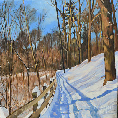 Painting - Invitation To Walk by Joan McGivney
