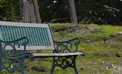 Photograph - Inviting Bench - With Effects by Marilyn Wilson