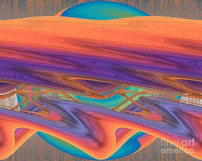 Art Print featuring the digital art Inw_20a6033 Weaving    by Kateri Starczewski