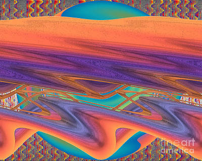 Art Print featuring the digital art Inw_20a6034 Weaving by Kateri Starczewski
