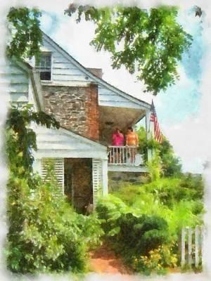 Western Art - Dyckman House NY by Mick Flynn