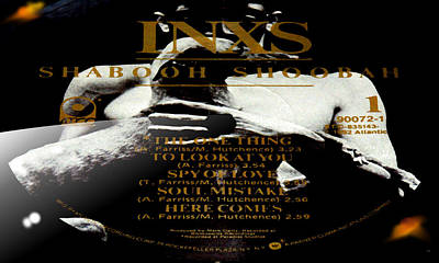 World Changing Digital Art - Inxs Shabooh Shoobah Side 1 by Marcello Cicchini