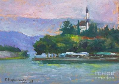 Painting - Ioannina Lake by George Siaba
