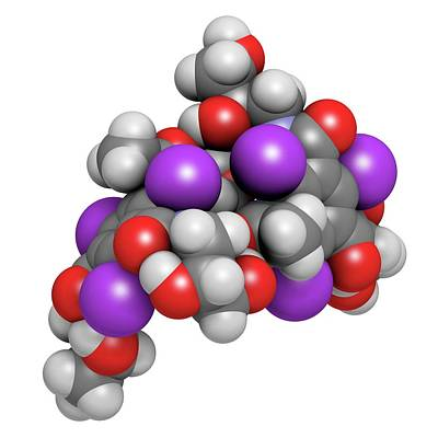 Atomic Image Photograph - Iodixanol Contrast Agent Molecule by Molekuul