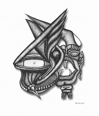 Drawing - Ion Tiki by Carl Hunter