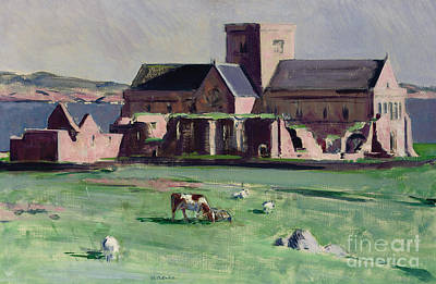 Iona Abbey From The Northwest Art Print by Francis Campbell Boileau Cadell