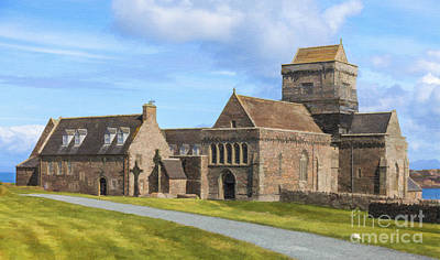 Digital Art - Iona Abbey by Liz Leyden
