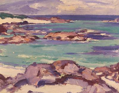 Low Tide Painting - Iona by Samuel Peploe