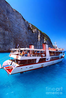 Deep Blue Photograph - Ionian Sea Cruise by Aiolos Greek Collections