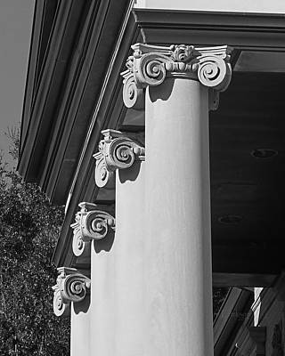 Photograph - Ionic Columns by rd Erickson