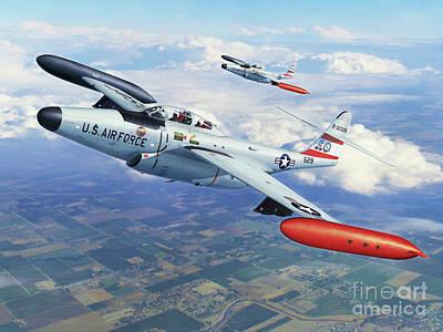 Aircraft Art Digital Art - Iowa Ang F-89j Scorpion by Stu Shepherd