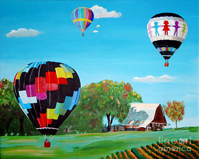 Painting - Iowa Balloons by Phyllis Kaltenbach