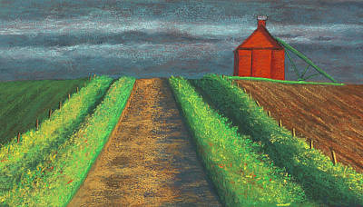 Iowa Country Road Art Print
