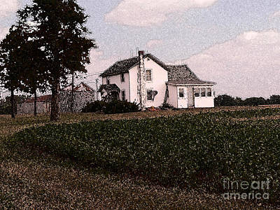 Iowa Farm Photograph - Iowa Farm In Fall by David Bearden