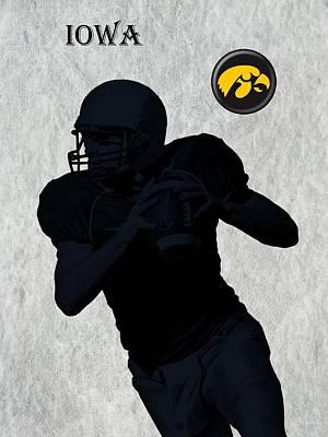 Michigan State Digital Art - Iowa Football  by David Dehner